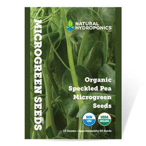 Natural Hydroponics Organic Speckled Pea Microgreen Seeds - Approx 60 Seeds