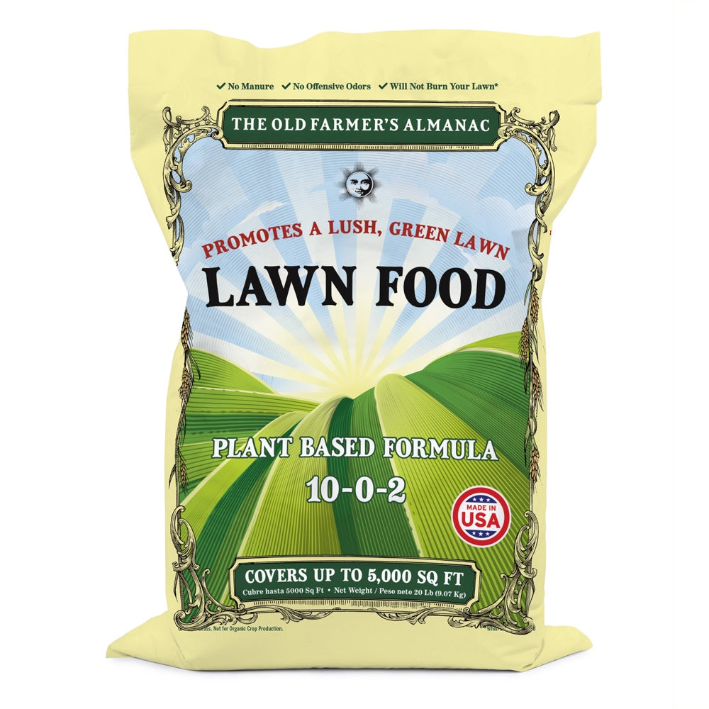 The Old Farmer's Almanac Lawn Food (20 Lb - Covers 5000 Sq Ft)