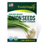 Purely Organic Heirloom Onion Seeds (Bunching Evergreen) - Approx 250 Seeds