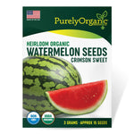 Purely Organic Heirloom Watermelon Seeds (Crimson Sweet) - Approx 15 Seeds