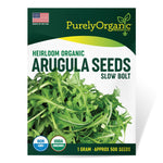 Purely Organic Heirloom Arugula Seeds (Slow Bolt) - Approx 500 Seeds