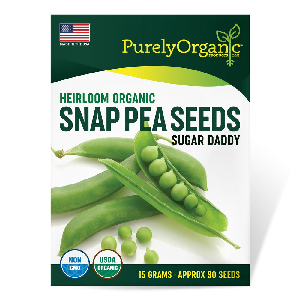 Load image into Gallery viewer, Purely Organic Heirloom Snap Pea Seeds (Sugar Daddy) - Approx 90 Seeds