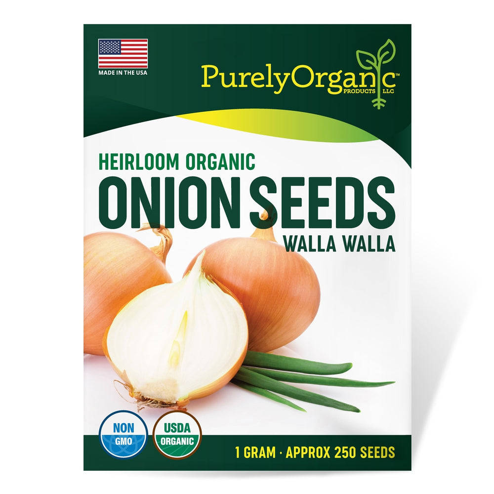 Purely Organic Heirloom Onion Seeds (Walla Walla) - Approx 250 Seeds