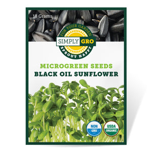 SimplyGro Organic Black Oil Sunflower Microgreen Seeds