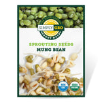 SimplyGro Organic Mung Bean Sprouting Seeds - Approx 300 Seeds