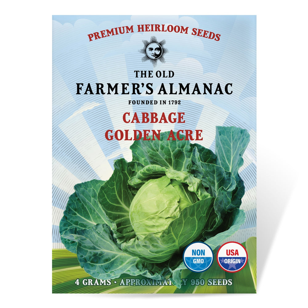 The Old Farmer's Almanac Heirloom Cabbage Seeds (Golden Acre) - Approx 950 Seeds