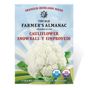 The Old Farmer's Almanac Cauliflower Seeds (Snowball Y Improved) - CROP FAILURE