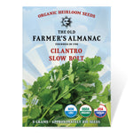 The Old Farmer's Almanac Organic Cilantro Seeds (Slow Bolt) - COMING SOON