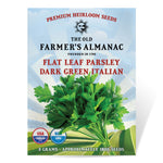 The Old Farmer's Almanac Heirloom Parsley Seeds (Dark Green Italian Flat Leaf) - Approx 1800 Seeds
