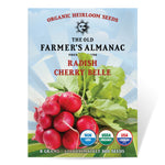 The Old Farmer's Almanac Organic Radish Seeds (Heirloom Cherry Belle) - Approx 500 Seeds