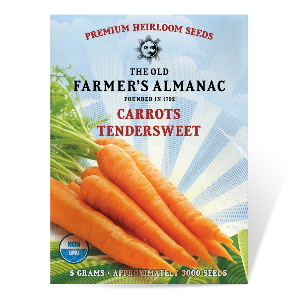 The Old Farmer's Almanac Carrot Seeds (Heirloom Tendersweet) - Approx 3000 Seeds