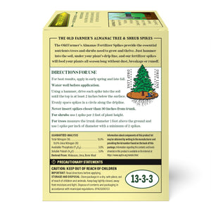 The Old Farmer's Almanac Tree & Shrub Fertilizer Spikes (Case of 12 Boxes)