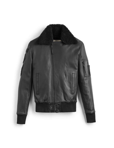 Black Queen's Guard Aviator Full Shearling