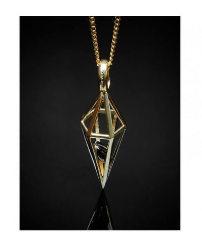 Large Geometric Pendant + Chain