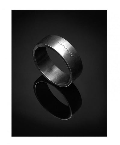 Shungite Wide Band Ring