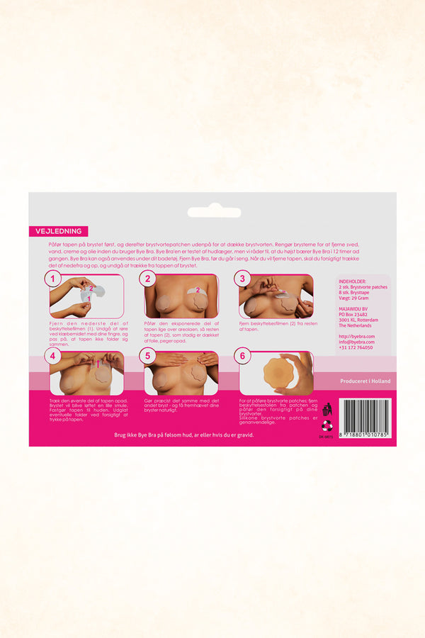 Bye Bra - AC Breast Lift Tape With Covering Silicone Patches
