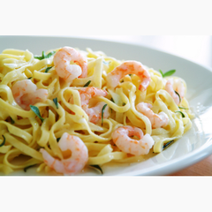 Shrimp Scampi over Linguini