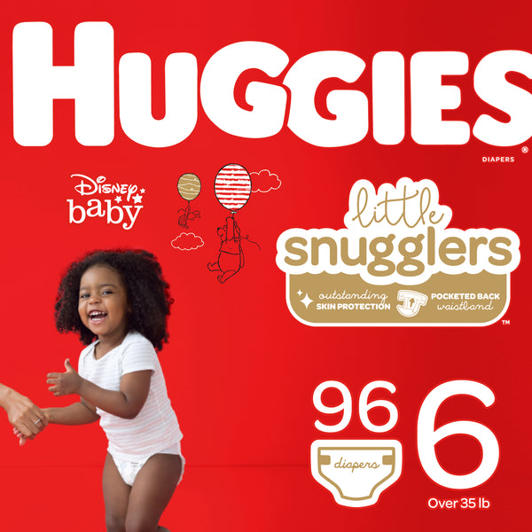 HUGGIES Little Snugglers Diapers, Size 6, 96 Count