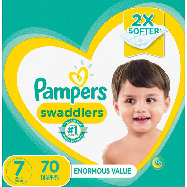 Pampers Swaddlers Diapers Size 7 70 Count Multicolor