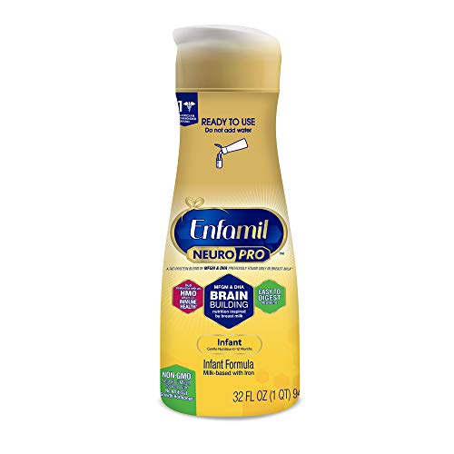 Enfamil NeuroPro Ready to Feed Baby Formula Milk, 32 fluid ounce - MFGM, Omega 3 DHA, Probiotics, Iron & Immune Support