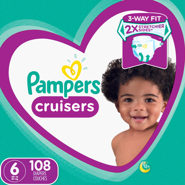 Pampers Cruisers Diapers Size 6 108 Count White