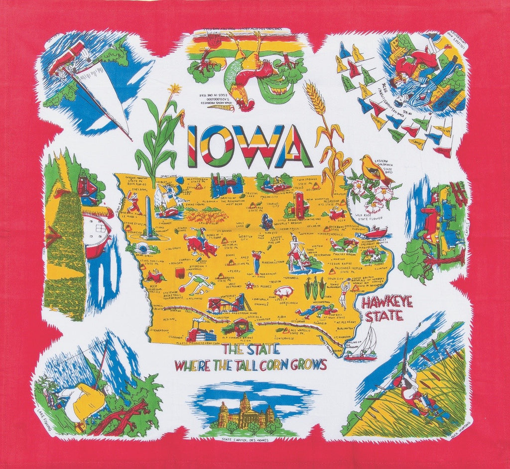Iowa State Retro Dish Towel