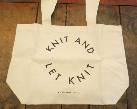 Knit and Let Knit Tote