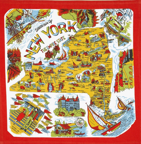 New York State Retro Dish Towel