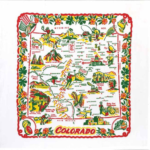 Colorado State Retro Dish Towel