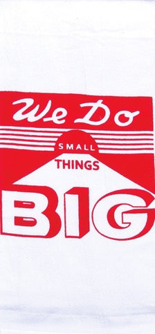 We Do Things Big Retro Dish Towel