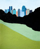 Piedmont Park Atlanta Elizabeth Lang Art Between the Evergreens
