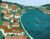 Douro River Portugal Elizabeth Lang Art Between the Evergreens