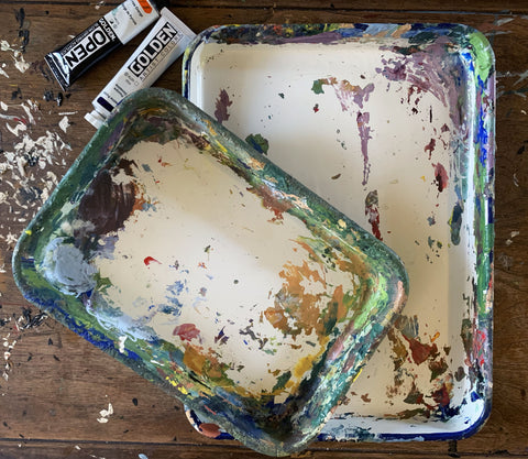 Butcher tray painting palettes Blick Art Supplies
