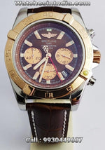 1st Copy Breitling Chronomat Brown leather strap Watch