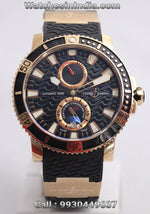 Ulysse Nardin Marine Diver Rose Gold Swiss ETA Luxury Watch