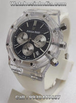 Audemars Piguet Royal Oak White Rubber Strap Chronograph Watch