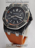 Audemars Piguet Royal Oak Engraved Case Limited Edition Orange Swiss ETA Watch