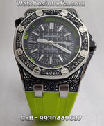 Audemars Piguet Royal Oak Engraved Case Limited Edition Neon Swiss ETA Watch