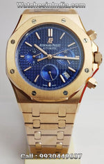 Audemars Piguet Royal Oak Chronograph Blue Dial Rose Gold Watch