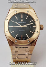 Audemars Piguet Royal Oak Automatic Black Dial Rose Gold Watch