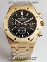 Audemars Piguet Royal Oak Chronograph Black Dial Rose Gold Watch