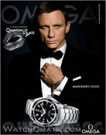 Omega Seamaster Quantum Of Solace 007 James Bond Automatic Watch