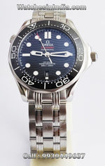 Omega Seamaster Diver 300 Black Wave Pattern Dial Automatic Watch