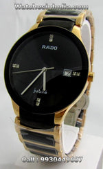 Rado Centrix Rose Gold Black Bracelet Watch