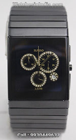 Rado Ceramica Gold Diamonds Chronograph Swiss ETA Watch