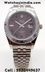 Rolex Datejust Maroon dial Luxury Watch