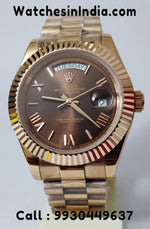 Rolex Day-Date Everose Gold Brown Dial Luxury Watch