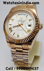 Rolex Day-Date Everose Gold White Dial Watch