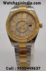 Rolex Sky-Dweller Dual Tone Gold Swiss ETA Watch