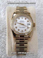 Rolex Datejust White Dial Full Gold Automatic Watch For Women